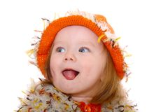 照相机女孩微笑的一点 库存图片