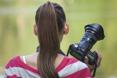 照相机女性摄影师 库存照片