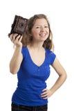照相机妇女年轻人 库存图片