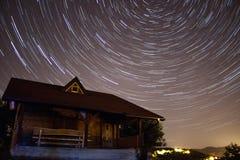 照相机导致了地球风险长的移动循环s星形线索 图库摄影