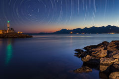 照相机导致了地球风险长的移动循环s星形线索 免版税图库摄影