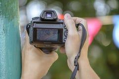 照相机射击是 免版税库存图片