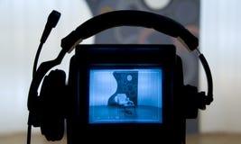 照相机录影反光镜 库存图片