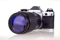 照相机影片减速火箭的superzoom 库存图片