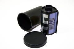 照相机影片和容器 免版税图库摄影
