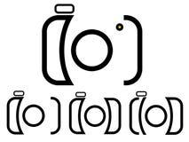 照相机徽标 库存图片