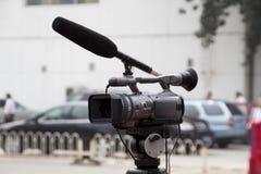照相机接近的录影 免版税图库摄影