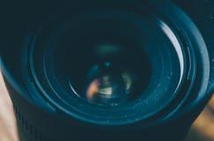 照相机接近的深度向场透镜照片浅非常 库存照片