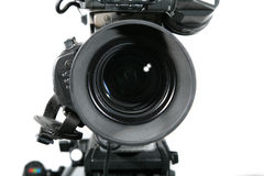 照相机接近的透镜工作室电视 库存图片