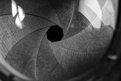 照相机接近的透镜 免版税库存照片