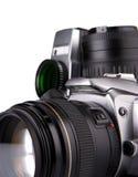 照相机数字式影片查出照片白色 库存图片