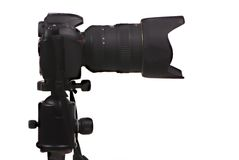 照相机数字式dslr射击端 库存照片