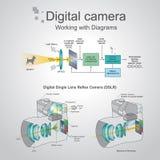 照相机数字式dslr 库存图片