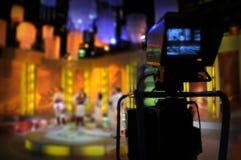 照相机显示电视录影反光镜 免版税库存照片