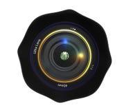 照相机查出的目的 库存图片