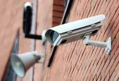 照相机概念证券监视墙壁 库存图片
