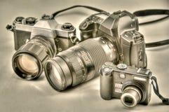 照相机演变 库存照片