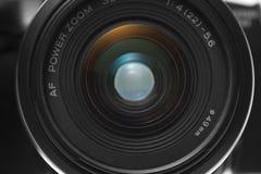 照相机特写镜头前面l视图 库存图片