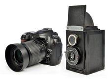 照相机现代老 免版税库存照片