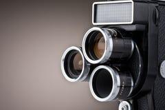 照相机电影葡萄酒 免版税库存照片