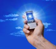 照相机电池现有量电话照片 免版税库存照片
