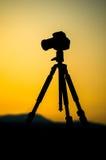 照相机的剪影 图库摄影
