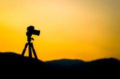 照相机的剪影 免版税库存照片