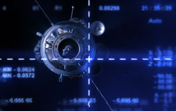 从照相机的卫星 向量例证