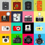 照相机的历史记录 免版税库存图片