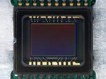 从照相机的CCD探测器 库存图片