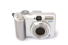 照相机紧凑数字式前面查出的白色 免版税库存图片