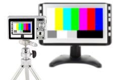 照相机紧凑数字式查出的质量测试 免版税库存照片