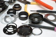 照相机维修服务视图 库存照片