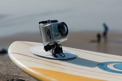 照相机编辑gopro hd hero2海浪 图库摄影