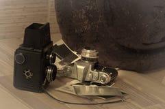 照相机老减速火箭 库存图片