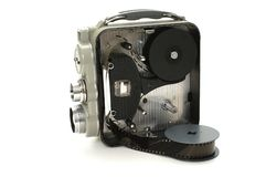 照相机老录影 库存图片