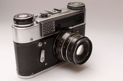 照相机老测距仪 免版税库存图片