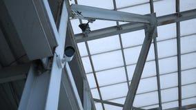 照相机观看一个办公楼区域-安全概念 影视素材
