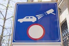 照相机观看的有限的交通区 免版税库存图片