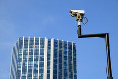 照相机证券监视 免版税库存照片