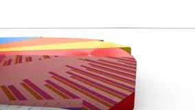 照相机跟随生气蓬勃的圆形统计图表,五颜六色的圆的收入分布图表 向量例证