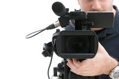 照相机运算符录影 图库摄影
