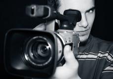 照相机运算符 免版税库存图片