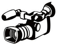 照相机钢板蜡纸样式录影 免版税库存图片