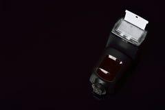 照相机闪光,在反射器的焦点 库存照片