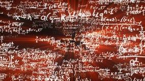 照相机飞行通过数学等式和惯例 影视素材