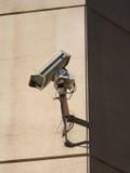 照相机cctv被挂接的墙壁 库存照片