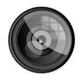 照相机Lense向量图形例证 免版税库存图片