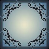 仿照葡萄酒样式的装饰框架 免版税库存图片