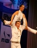 仿照60 ies -执行圣彼德堡音乐厅的马戏团的舞蹈家样式的编舞缩样 免版税库存图片